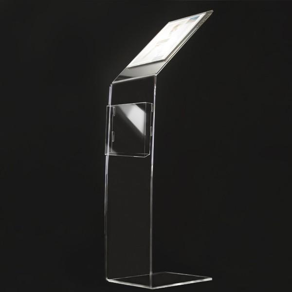 Leggio Da Terra Plexiglass.Leggio In Plexiglass Porta Avvisi E Porta Depliant Elegante