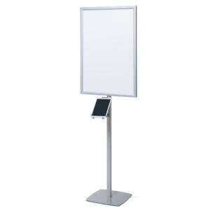 Supporto Tablet autoportante con cornice a LED per poster