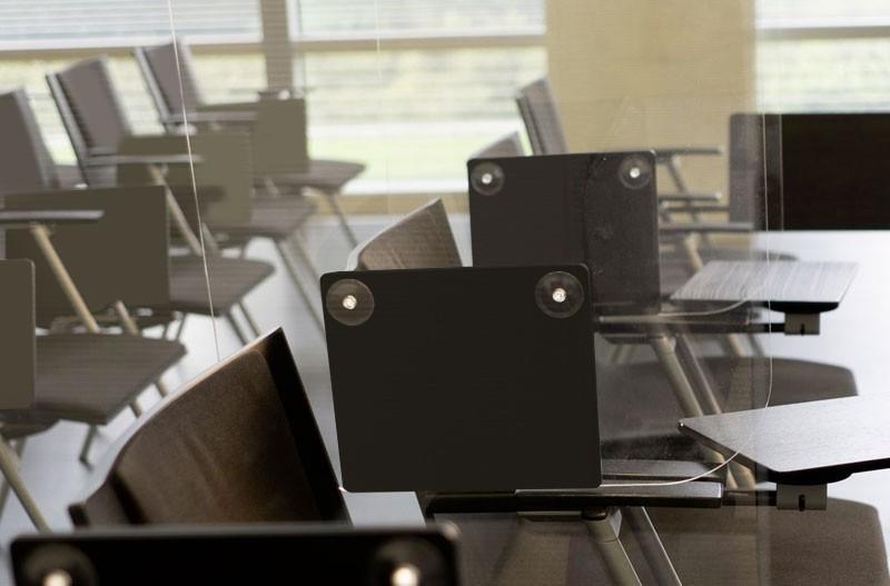 separatore per sedute in plexiglass